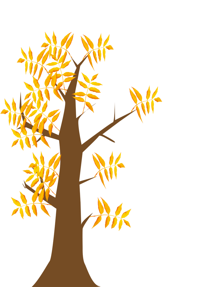 autumn clip art tree with leaves