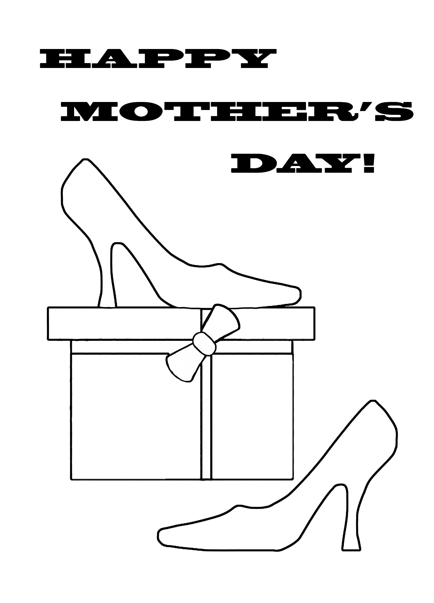 HAPPY MOTHER'S DAY SHOES