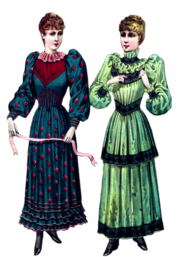 Victorian clip art two ladies