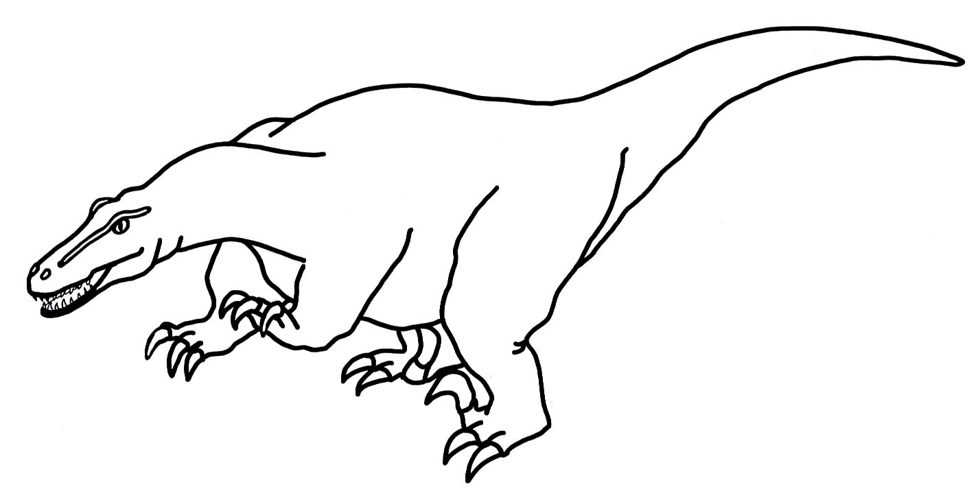 dinosaur coloring sheets Deinonychus