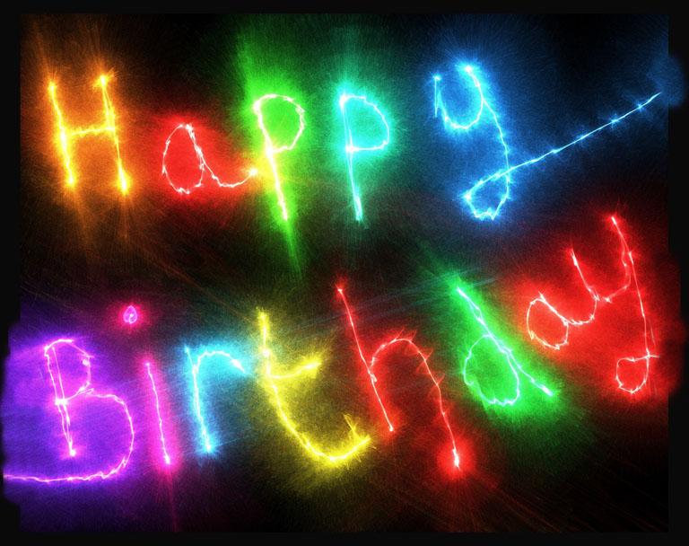 happy birthday light text