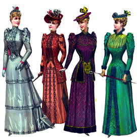 Beautiful ladies Victorian style