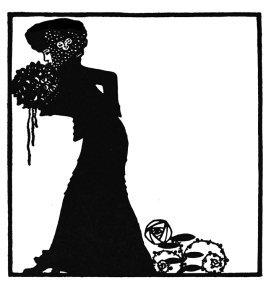 Art Nouveau woman with flowers