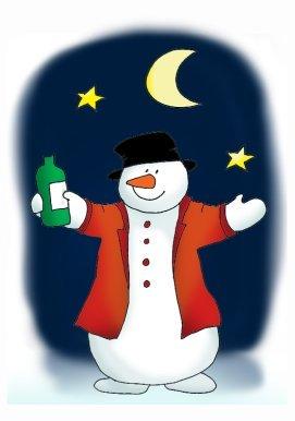 drinking snow man clipart