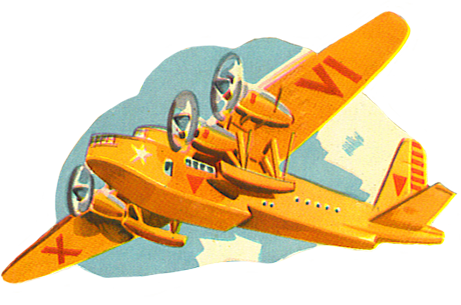 orange airplane clip art