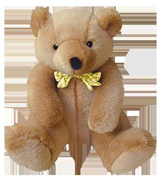 cute teddy bear with bow