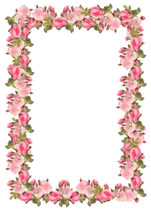 Victorian frames with cherry blossoms