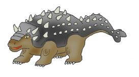 Ankylosaurus clipart