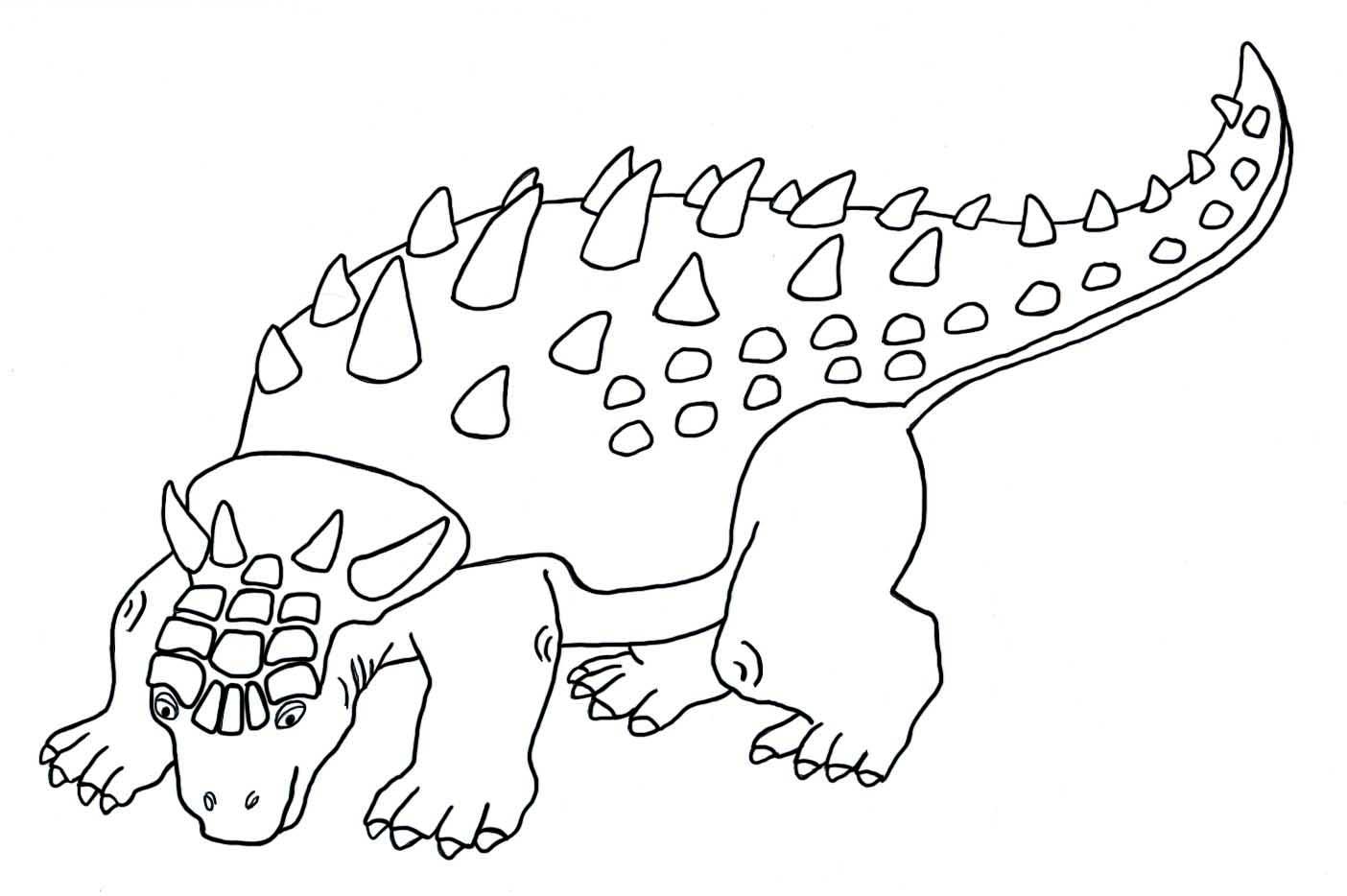 dinosaur coloring sheets ankylosaurus