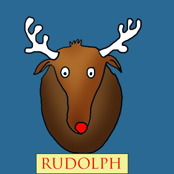 Cool Christmas clip art reindeer