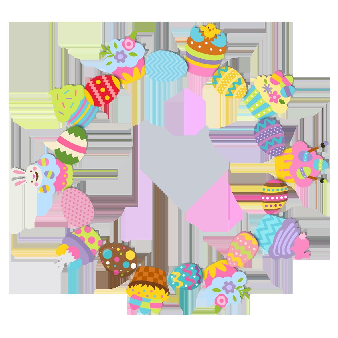cupcake Easter border circle