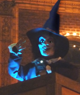 Blue Halloween witch