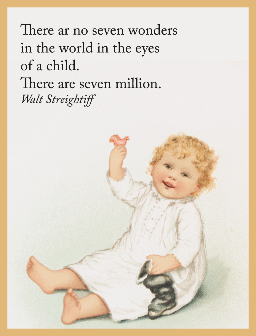 small child image and quote