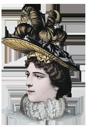 Victorian era hat for women 1883