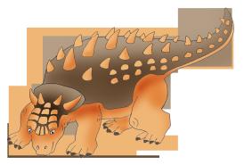 Ankylosaurus dinosaur clipart