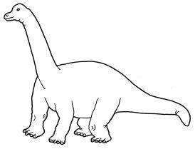 dinosaur coloring page sauropod