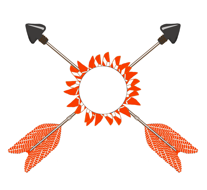 orange red tribal arrows clipart