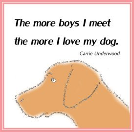 picture quote about boys and dogs