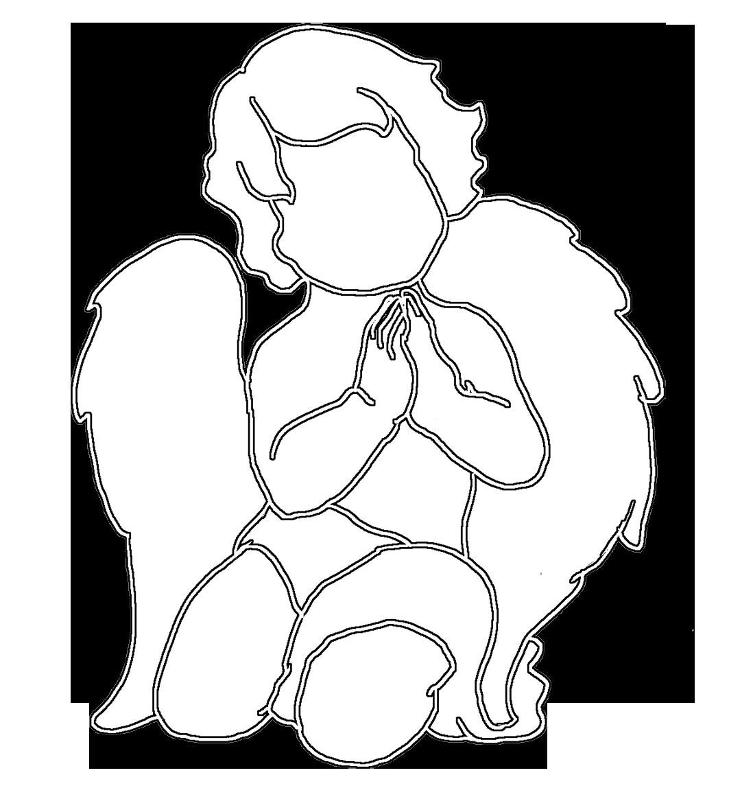 angel silhouette cute praying