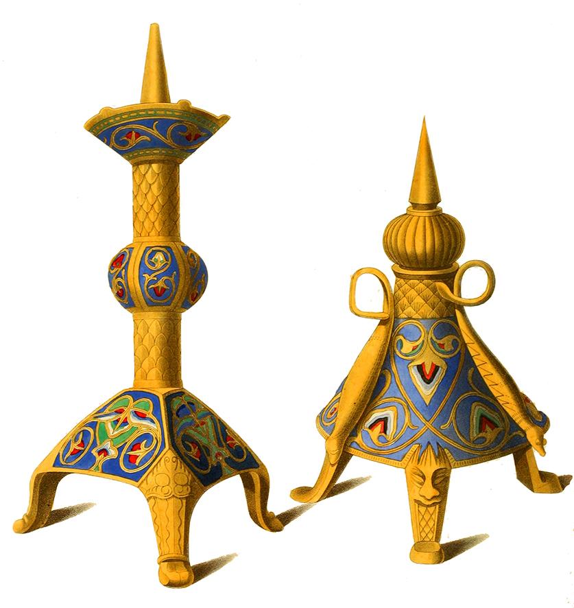 candlesticks 12th century