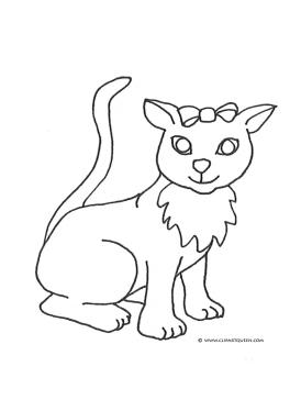 cat coloring pages cat with big eyes