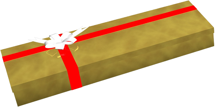 golden birthday present clipart