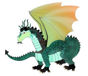 cool dragons clip art