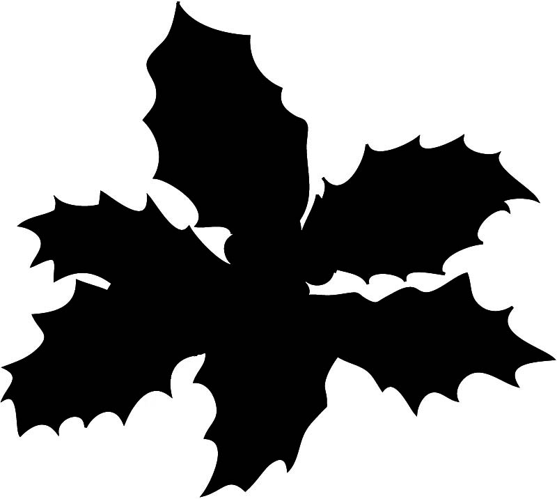 silhouette clip art leaves of holy