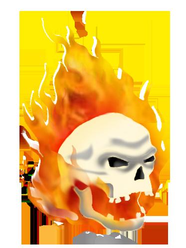 Flaming skulls 1