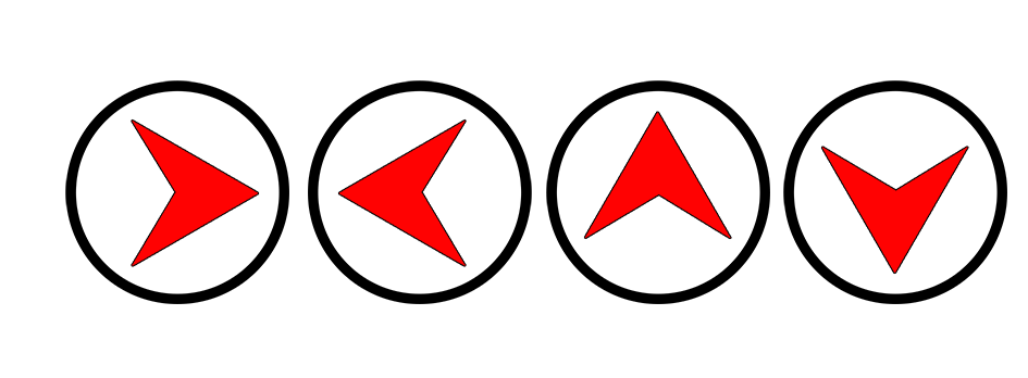 arrow signs in circle