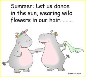hippos dancing in the summer