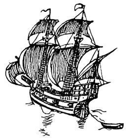 sail ship ornament