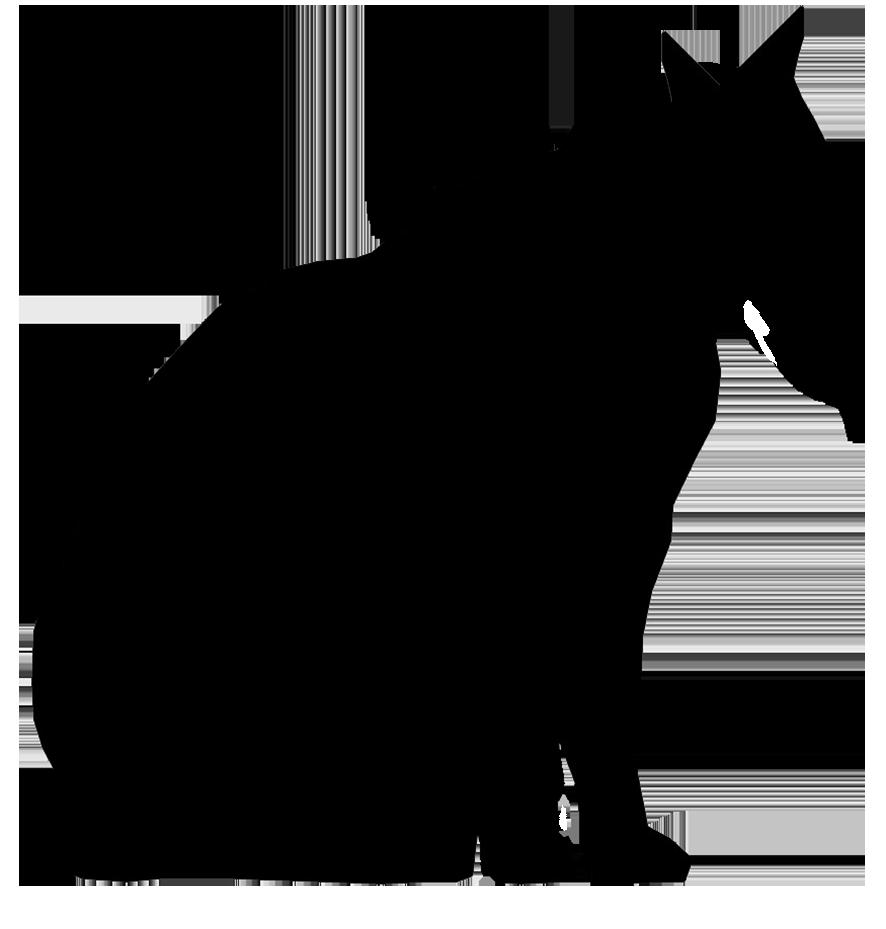 male cat silhouette
