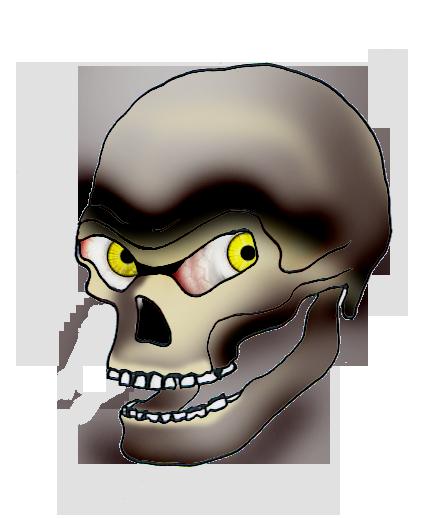 dark evil skull drawing