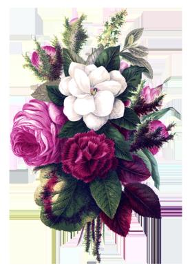 Flower bouquet pink flowers