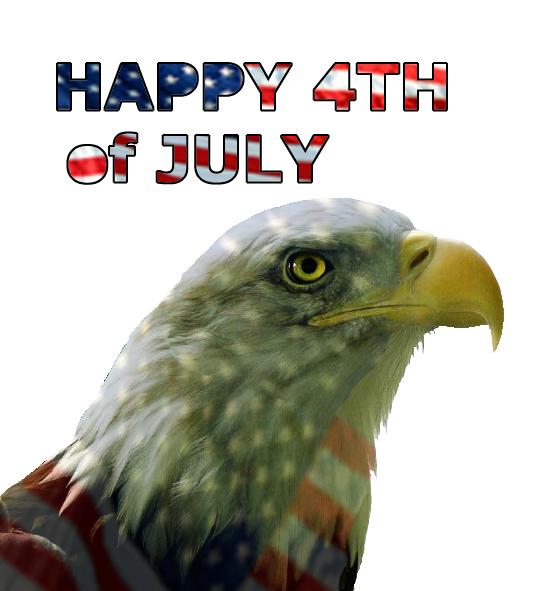 Happy fourth of July eagle head America flag