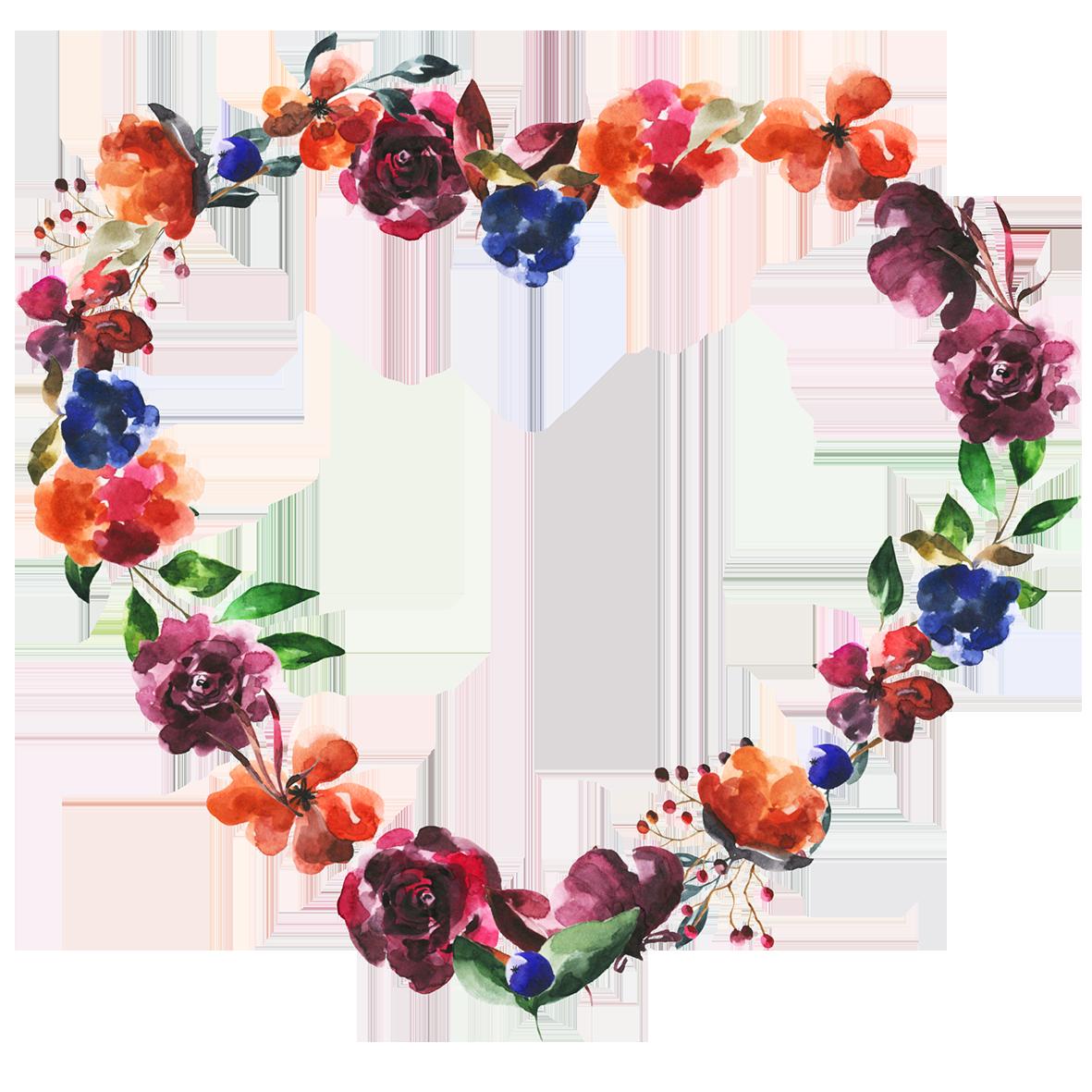 floral Valentine heartshaped frame