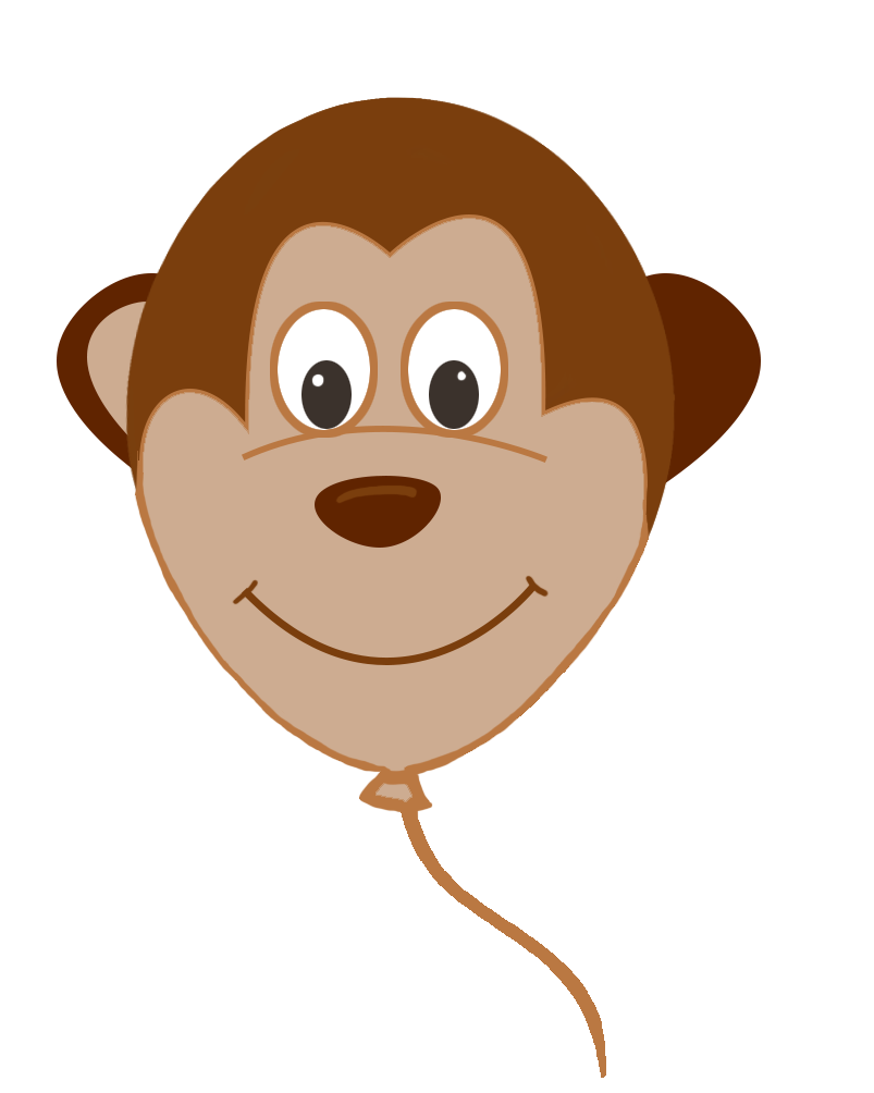 Monkey face balloon