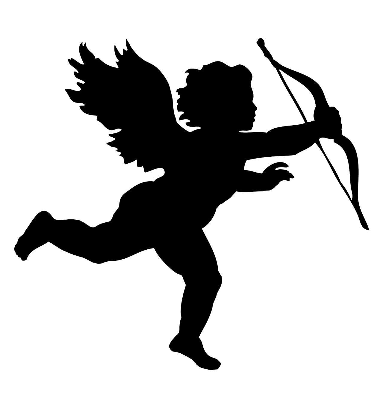 angel silhouettes clipart