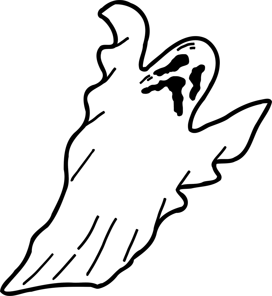 scary ghost for Halloween
