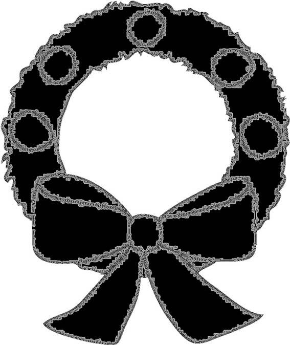 Christmas wreath silhouette