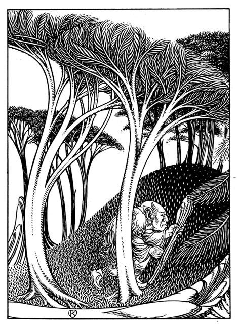 Jugendstil landscape with troll