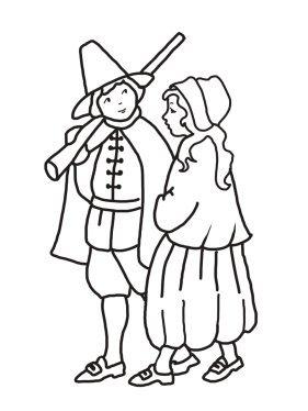 pilgrim boy and pilgrim girl