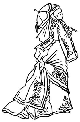 Victorian coloring page