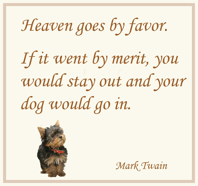 dog picture quote mark twain