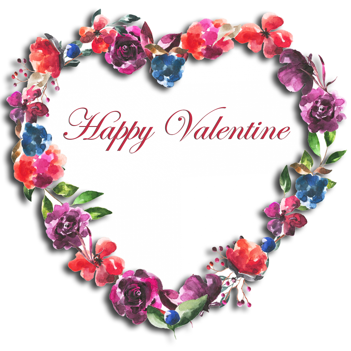 floral Happy Valenting greeting