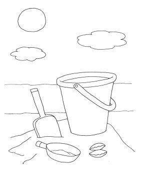 printable coloring pages for kids bucket spade
