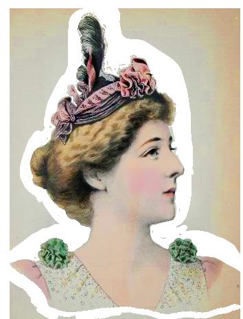 ladies dress hats Victorian era style