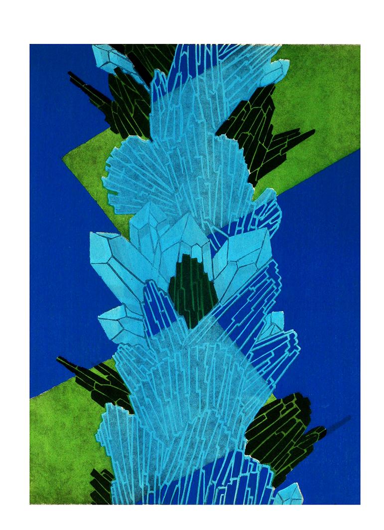blue art deco clipart