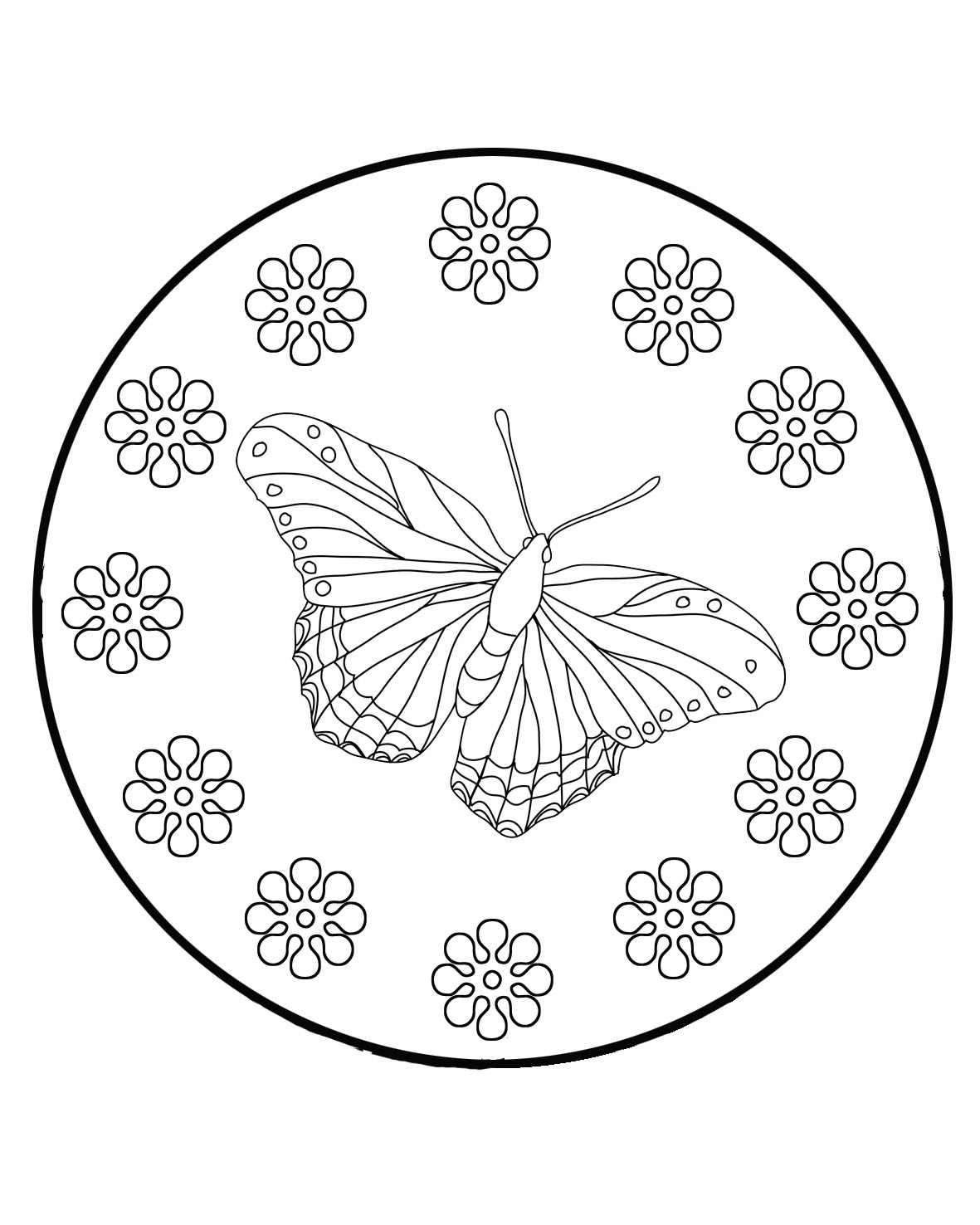 butterfly with flower pattern